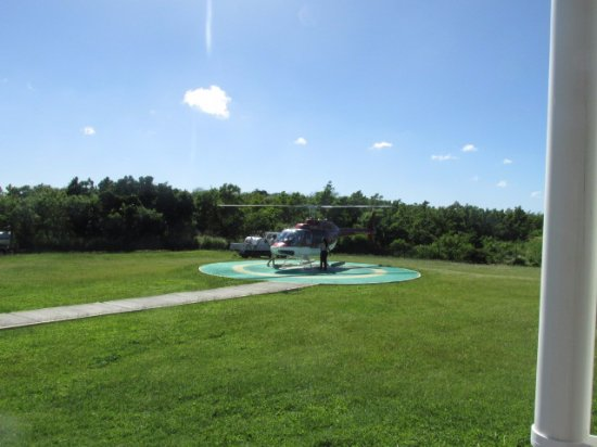 Caribbean Helicopters: The helicopter pad