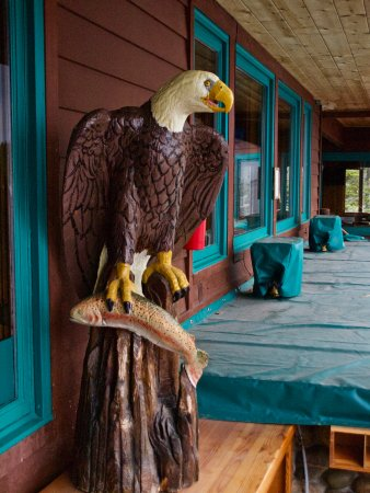 Sunnyside Restaurant and Lodge: Eagle With Fish