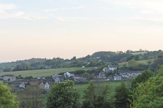 The Star Inn, Whiteshill: View from the new beer garden.