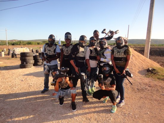 Dacosta Farm and Attraction: All ready for the paintball action 