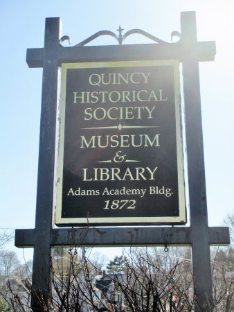 Quincy, MA: QHS museum sign
