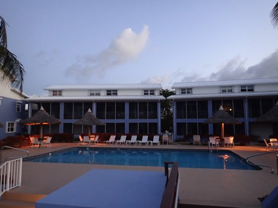 Bodden Town, Grand Cayman: A view of part of the condo complex from the beach. Unit #8 is the one of the lower level.