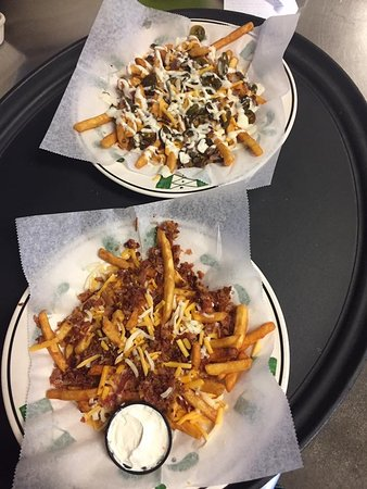 Calais, ME: Fire fries and fancy bacon fries