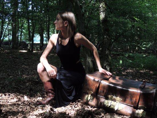 Erezee, Belgique : Bois des Romains, casting pour BELMAL, avec Anais, en aout 2015