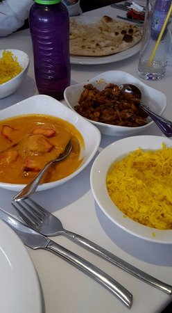 Pink Paprika: butter chicken, pilau rice and mushroom bhaji