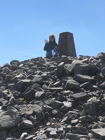 County Fermanagh, UK: The cairn at the top of Cuilcagh Mountain