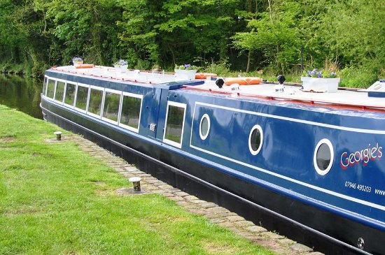 Penkridge, UK: View of the boat