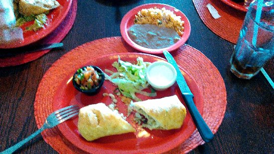 Elmsford, NY: Chicken chimichanga lunch special