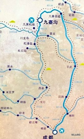 "Mao County, Cina: Map to  ""Maoxian white stone village"""