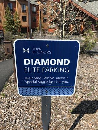 Hampton Inn & Suites Tahoe-Truckee : Special parking!!!!!