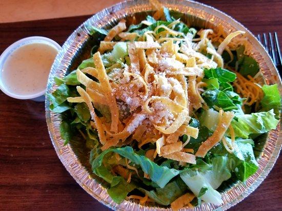 Clinton, Utah: Sweet pork salad