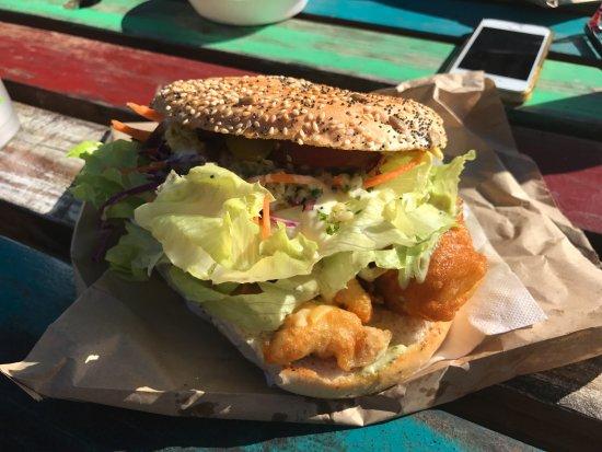 Marahau, Nueva Zelanda: Terakihi Fish Burger