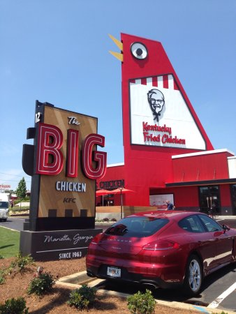 new big chicken kfc picture of kfc marietta tripadvisor