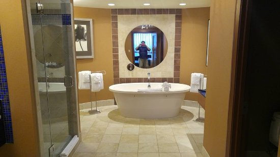 Full Shower, Large Tub, 3 sinks and 2 separate toilets... - Picture ...