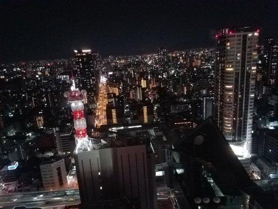 Hotel Hankyu International: Night view from 30th floor