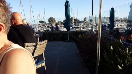 View from the outdoor table picture of sally 39 s fish for Sally s fish house bar