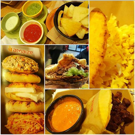 delicious mix of arepas