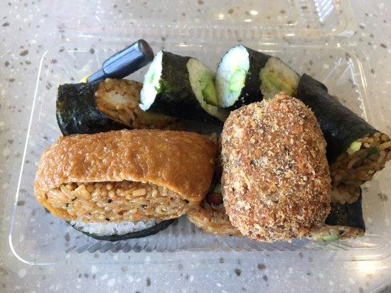 Paraparaumu, Nova Zelândia: Selection of vegetable sushi