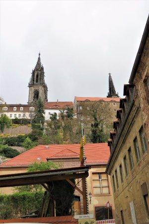 Meissen, Germany: Blick von der Altstadtherberge zur Albrechtsburg
