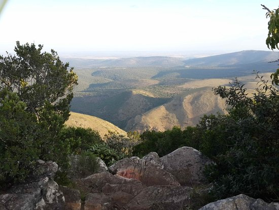 Grahamstown, South Africa: View from beacon a short drive / MTB from manor