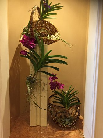 Hotel The Cliff Bay: Flowers in the hotel are spectacular our bad luck the weather is so bad