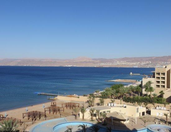 Kempinski Hotel Aqaba Red Sea: View from room towards Eilat