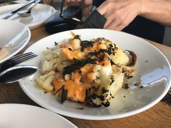 Swanbourne, Australia: Sides: cauliflower