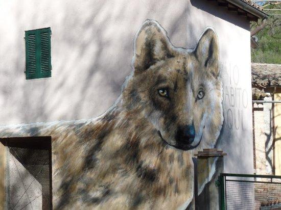 I Murales di Braccano: il lupo