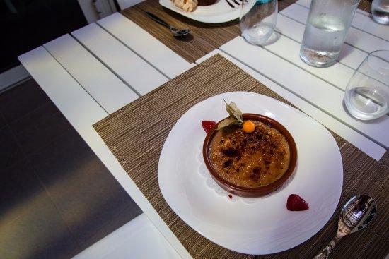 Poggio-Mezzana, France: Crème brûlée à la crème de marron