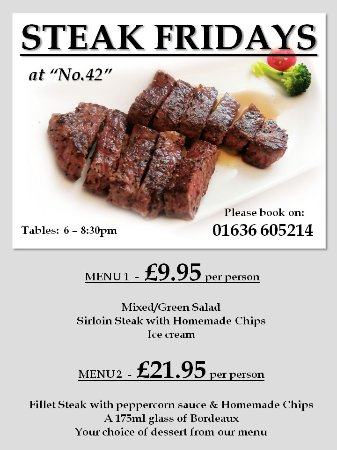 Rushton's: Friday night is our Steak Night....