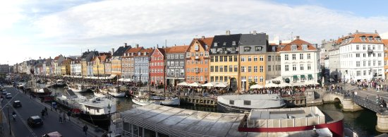 Somandshjemmet Bethel: Panoramic view over Nyhavn from our second-floor room