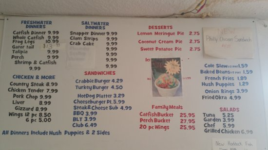 Pahokee, FL: Lunch Menu