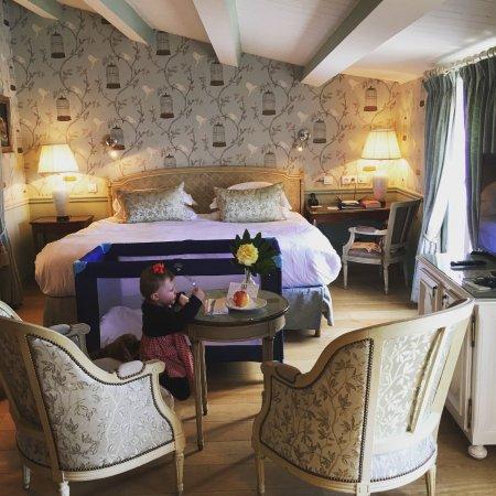 Hotel de Toiras: bébé et petit toutou bienvenue ^^