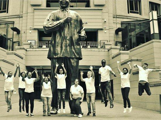 Nelson Mandela Square : Taken in front of the Nelson Mandela Statue on the Square