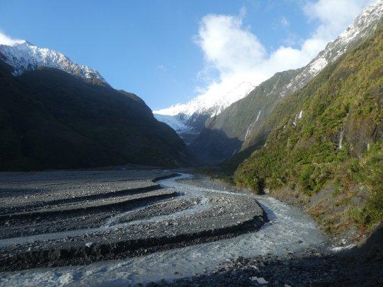 Franz Josef, Νέα Ζηλανδία: morrenas del valle