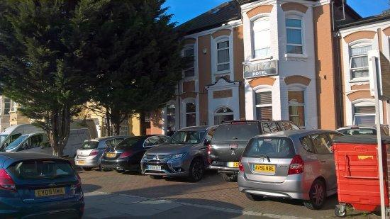 Ilford, UK: Carpark mayhem