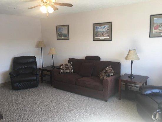 Machias, ME: Living room of River View Apartment