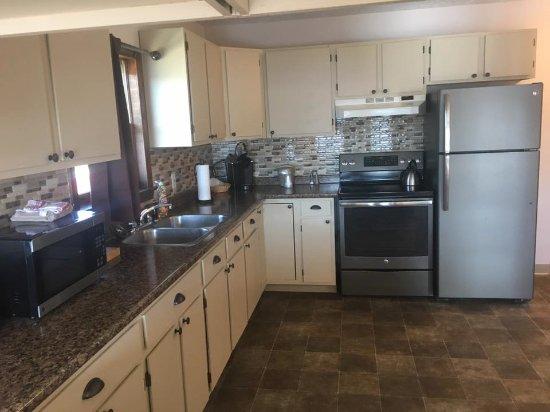 Machias, ME: Kitchen of River View Apartment
