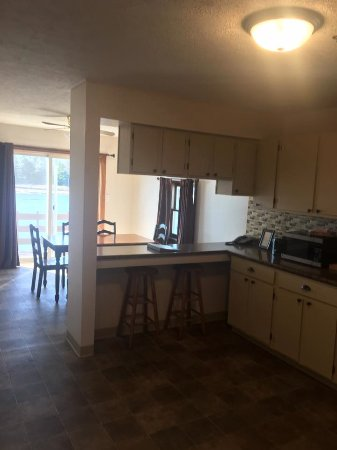 Machias, ME: Kitchen/Dining Room of River View Apartment