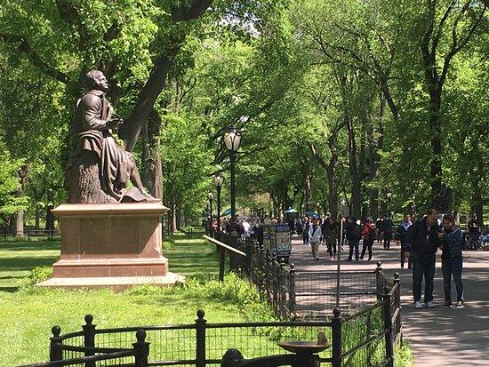 Central Park's Literary Walk