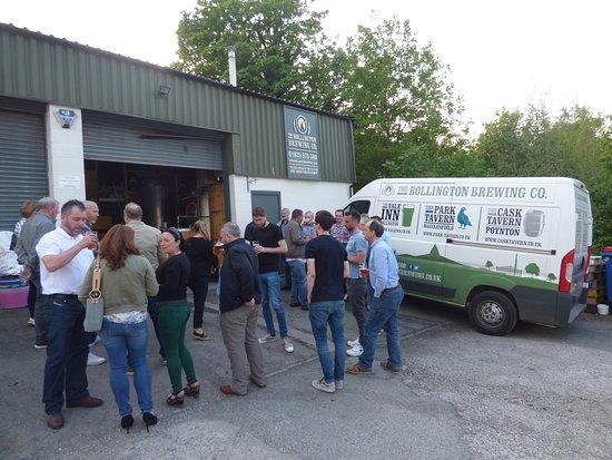 Bollington, UK: Outside the brewery