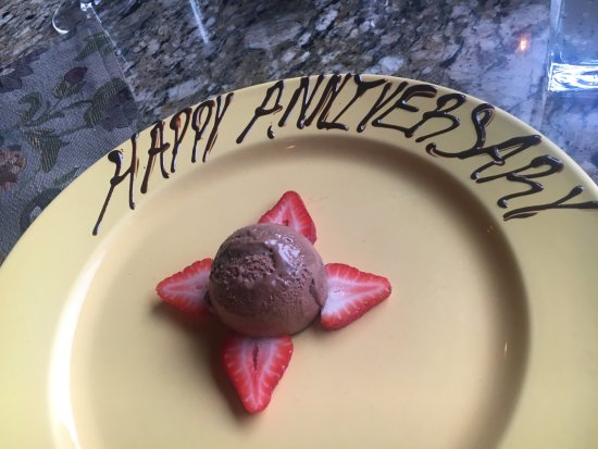 Ojai, CA: Happy Anniversary chocolate