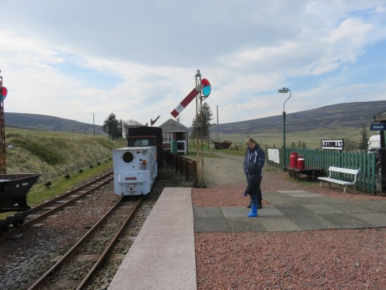 Leadhills station platform