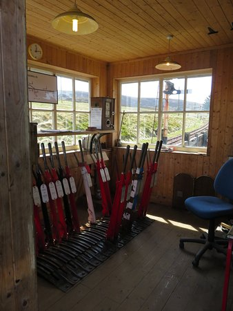 The signal box at Leadhills & Wanlockhead Railway