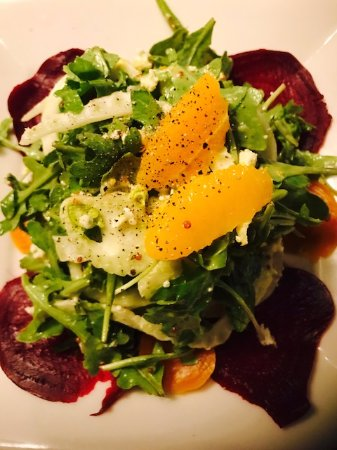 Cuyahoga Falls, OH: Roasted Beet Salad with Fennel, Orange Segments with a Citrus Mustard Vinaigrette