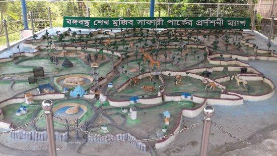 Gazipur, Bangladesh: park map