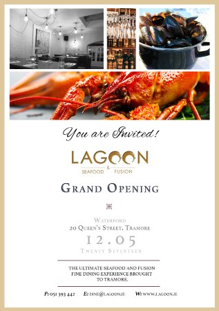 Lagoon Seafood Fusion Grand Opening Invitation Picture Of Lagoon