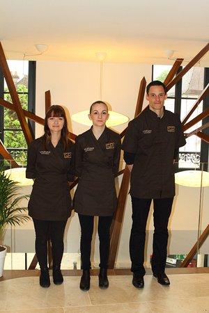 Spa des Clos: Laura, Mathilde, Guillaume