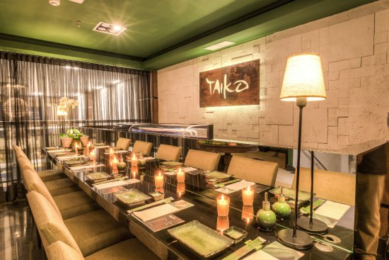 Ambiente do Taiko Asian Food