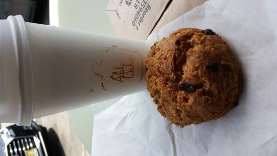 Maplewood, NJ: Oatmeal raisin scone.....yum...😊